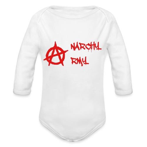 Anarchy Army LOGO - Organic Long Sleeve Baby Bodysuit