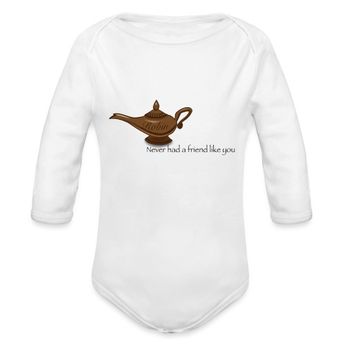 Never had a friend like you - Organic Long Sleeve Baby Bodysuit