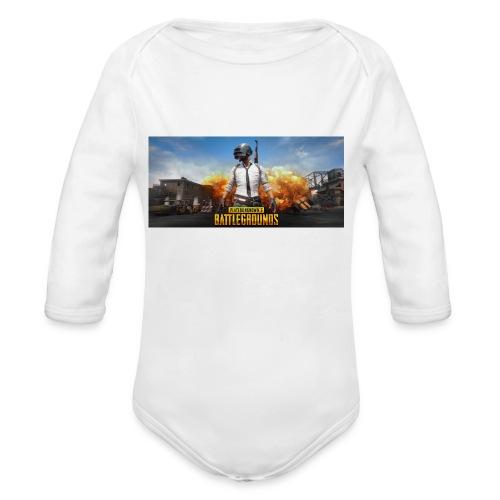 pubg 1 - Organic Long Sleeve Baby Bodysuit