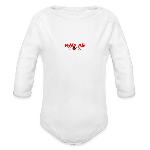 Mad As Vlogs - Organic Long Sleeve Baby Bodysuit
