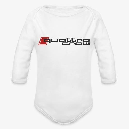 Quattro Crew - Dark Logo - Organic Long Sleeve Baby Bodysuit