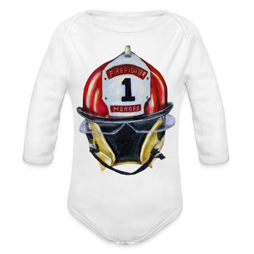 Firefighter - Organic Long Sleeve Baby Bodysuit