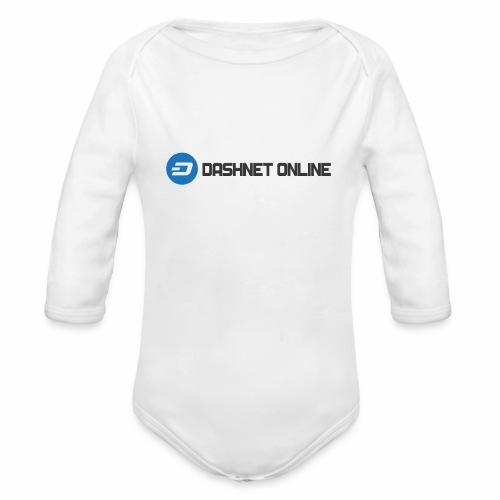 dashnet online dark - Organic Long Sleeve Baby Bodysuit