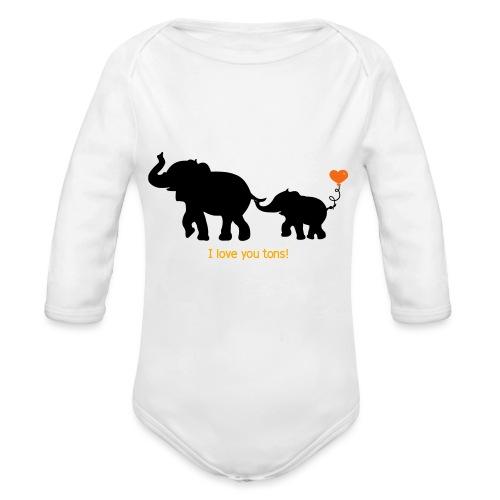 I Love You Tons! - Organic Long Sleeve Baby Bodysuit