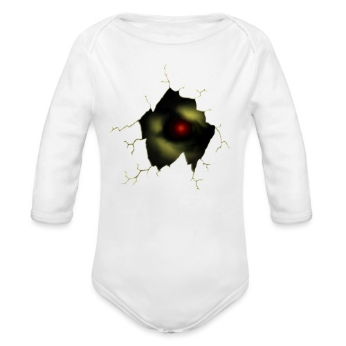Broken Egg Dragon Eye - Organic Long Sleeve Baby Bodysuit