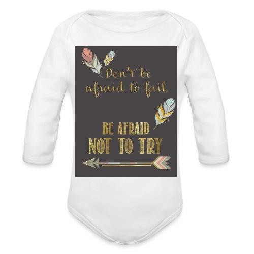 Follow dreams - Organic Long Sleeve Baby Bodysuit