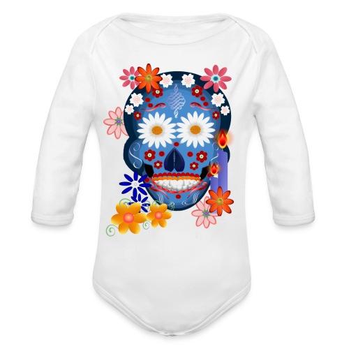 DarkSkull-day of the dead - Organic Long Sleeve Baby Bodysuit