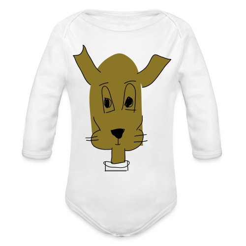 ralph the dog - Organic Long Sleeve Baby Bodysuit