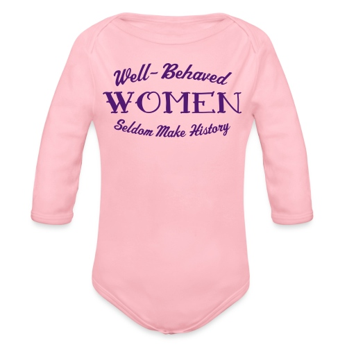 well behaved - Organic Long Sleeve Baby Bodysuit