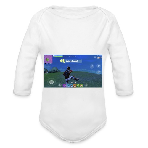 My First Win! - Organic Long Sleeve Baby Bodysuit