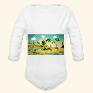 3d nature t-shirt - Long Sleeve Baby Bodysuit