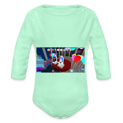 prom queen - Organic Long Sleeve Baby Bodysuit