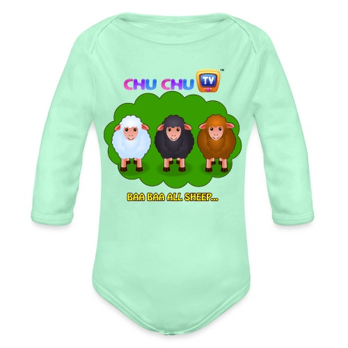 Motivational Slogan 4 - Organic Long Sleeve Baby Bodysuit