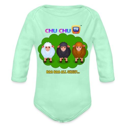 Motivational Slogan 4 - Organic Long Sleeve Baby Bodysuit
