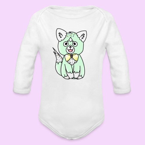 Lolipup Pack: Minty Pup! - Organic Long Sleeve Baby Bodysuit
