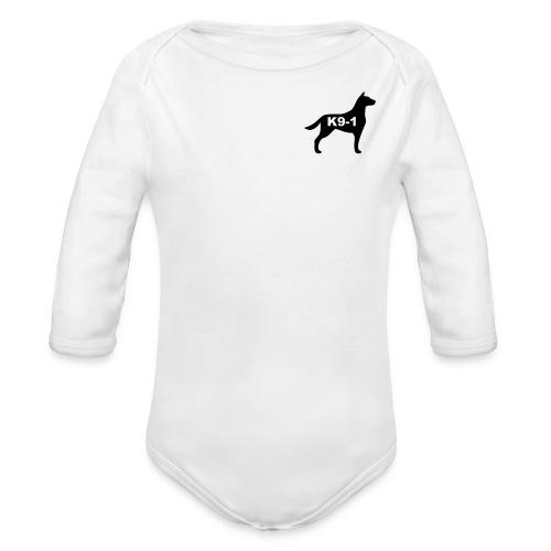 k9-1 Logo Large - Organic Long Sleeve Baby Bodysuit