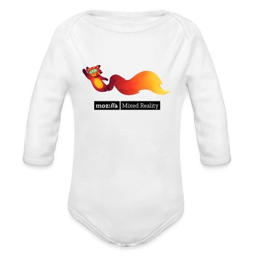 Flying Foxr (black MR logo) - Organic Long Sleeve Baby Bodysuit