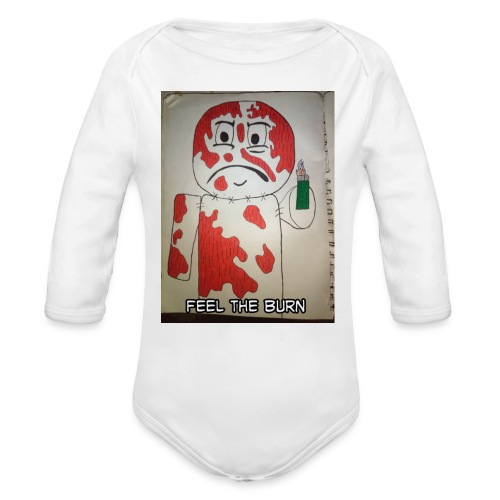 Playing with fire - Organic Long Sleeve Baby Bodysuit