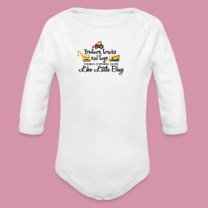 trucks and boys - Long Sleeve Baby Bodysuit