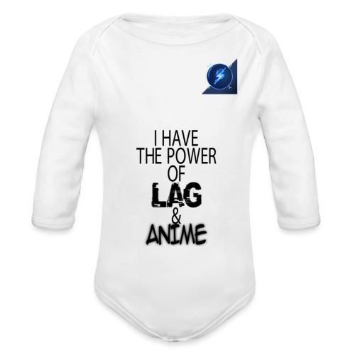 I Have The Power of Lag & Anime - Organic Long Sleeve Baby Bodysuit