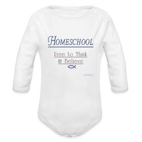 Homeschool Freedom - Organic Long Sleeve Baby Bodysuit