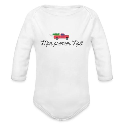 Mon premier noel - Organic Long Sleeve Baby Bodysuit