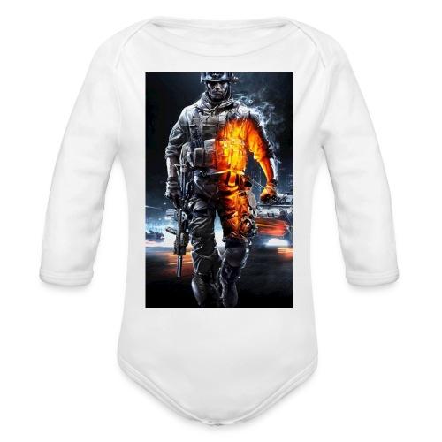 Cod fan - Organic Long Sleeve Baby Bodysuit