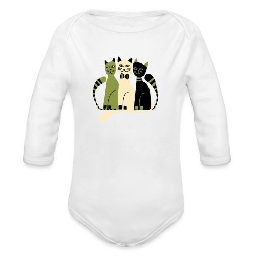 Cozy Cats by Anita Bijsterbosch - Organic Long Sleeve Baby Bodysuit