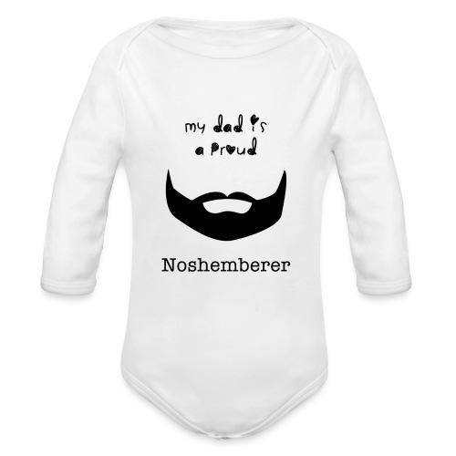 noshemberer dad png - Organic Long Sleeve Baby Bodysuit