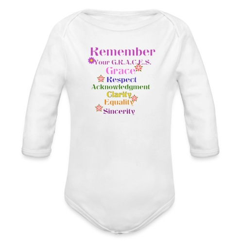 Remember Your GRACES - Organic Long Sleeve Baby Bodysuit
