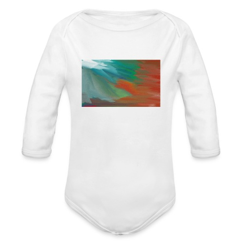 paint design - Organic Long Sleeve Baby Bodysuit