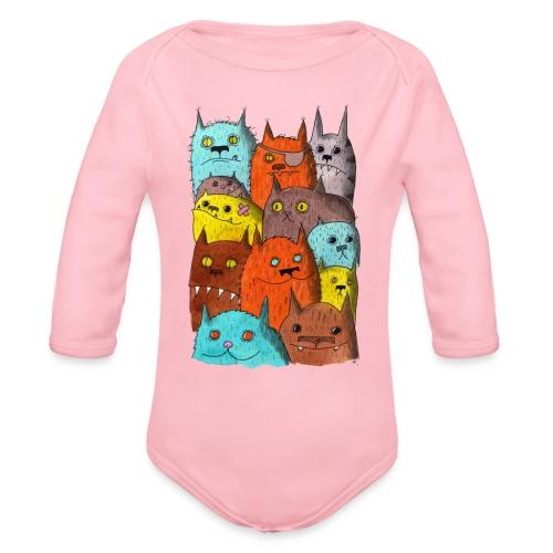 The Cats of Meow Tyson B - Organic Long Sleeve Baby Bodysuit