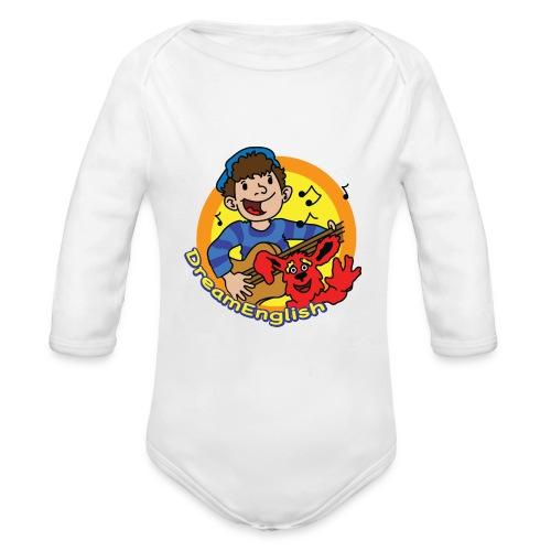 dreamenglishlogo-L - Organic Long Sleeve Baby Bodysuit