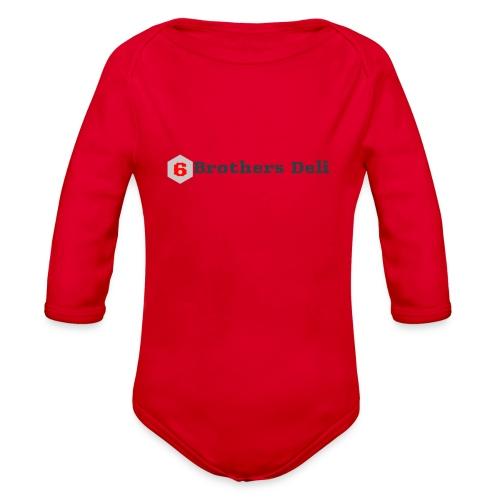 6 Brothers Deli - Organic Long Sleeve Baby Bodysuit