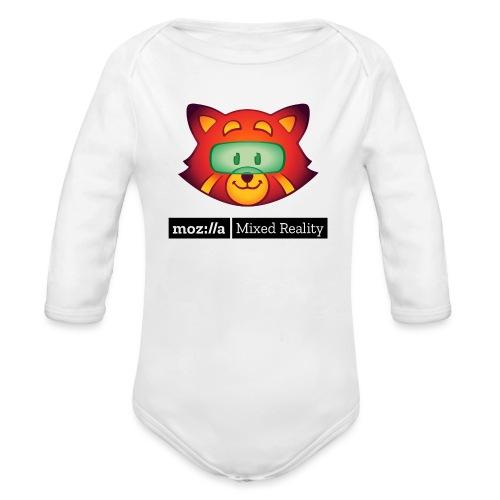 Foxr Head (black MR logo) - Organic Long Sleeve Baby Bodysuit