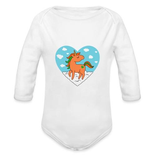 Unicorn Love - Organic Long Sleeve Baby Bodysuit