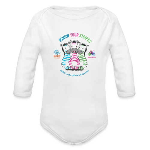 Rare Disease Day #Show Your Stripes - Organic Long Sleeve Baby Bodysuit