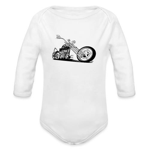 Custom American Chopper Motorcycle - Organic Long Sleeve Baby Bodysuit