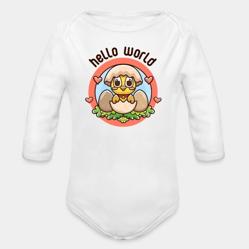 baby girl - Organic Long Sleeve Baby Bodysuit