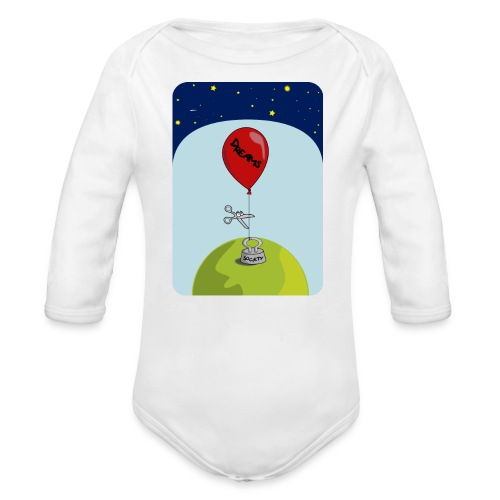 dreams balloon and society 2018 - Organic Long Sleeve Baby Bodysuit