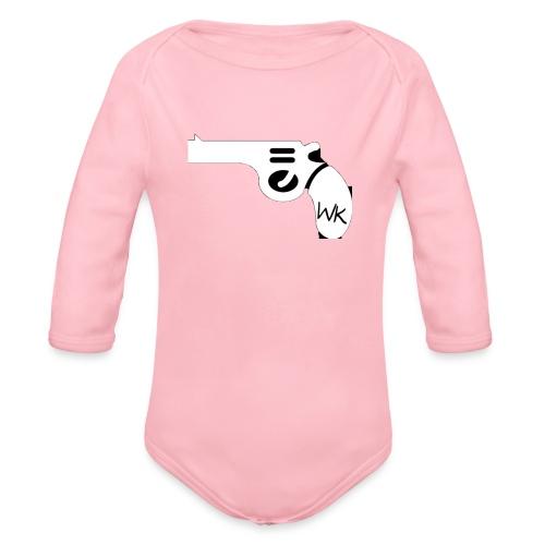 Gun - Organic Long Sleeve Baby Bodysuit