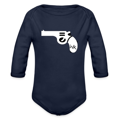 Gun - Organic Long Sleeve Baby Bodysuit