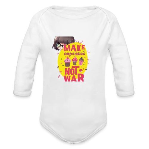 MAKE CUPCAKES - Organic Long Sleeve Baby Bodysuit
