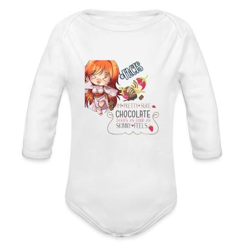 CHOCOLATE TASTES LIKE SKINNY - Organic Long Sleeve Baby Bodysuit