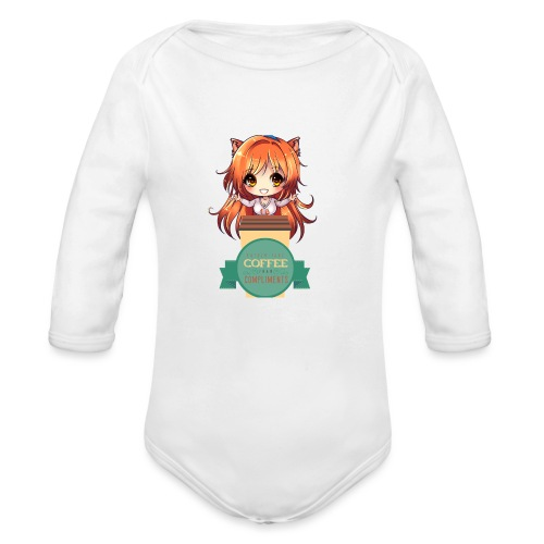 COFFEE OVER COMPLIMENTS - Organic Long Sleeve Baby Bodysuit