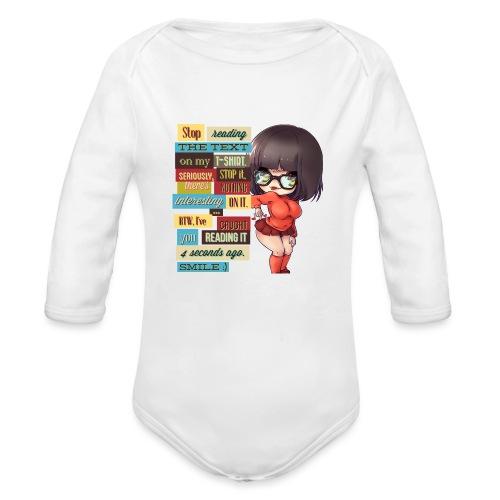 CAUGHT YOU - Organic Long Sleeve Baby Bodysuit