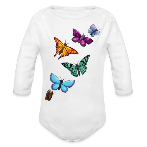 butterfly tattoo designs - Organic Long Sleeve Baby Bodysuit
