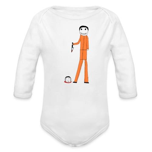 ted bundy - Organic Long Sleeve Baby Bodysuit