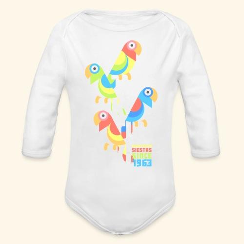 Tiki Room - Organic Long Sleeve Baby Bodysuit