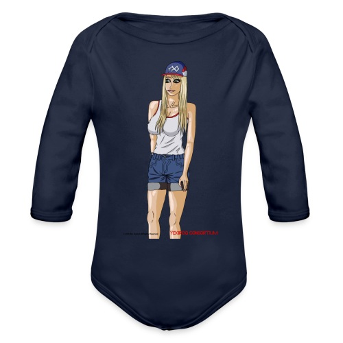 Gina Character Design - Organic Long Sleeve Baby Bodysuit